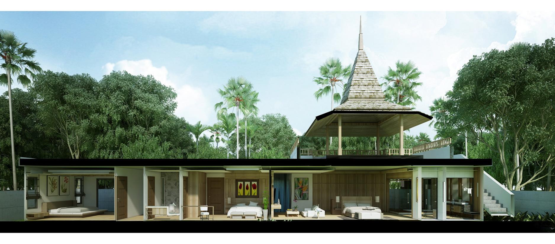 Temple house an bang beach