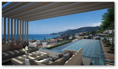 Stylish apartments with sea and Patong views