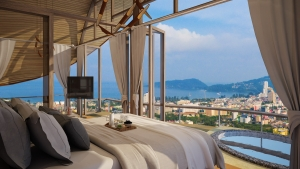 Stylish villas with panoramic sea views in Patong