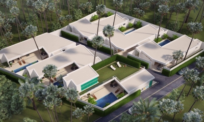A new 6 luxury villas project for sale.