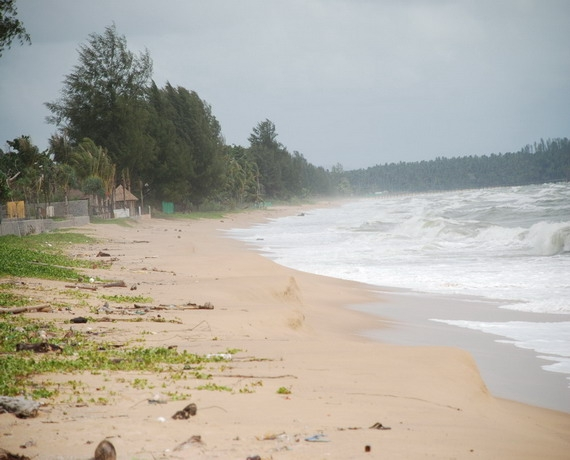Beachfront land plot